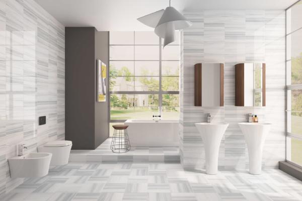 The unique style of the bathroom interior