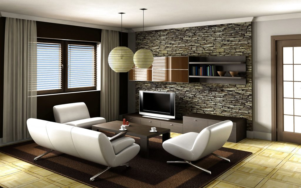 Modern interior for small living room