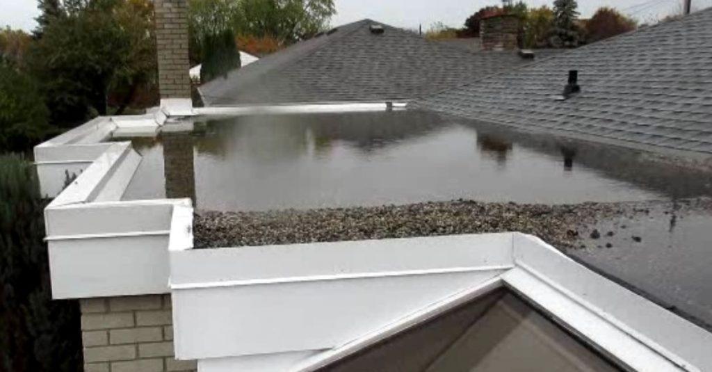 Flat roof ponding in Maynard