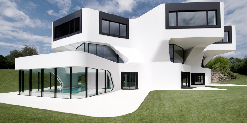 Beautiful modern house architecture - outdoor view